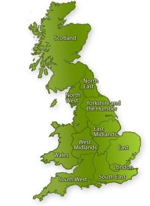 A map of UK regions